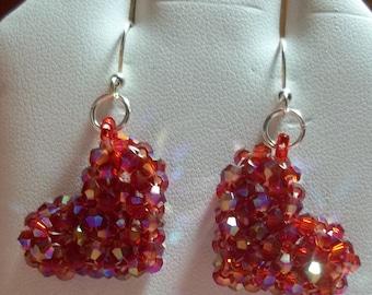 3-D Heart Earrings Pdf Tutorial (INSTANT DOWNLOAD)