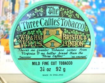 ViNTaGe TiN . Three Castles Tobacco .  UNiQue SToRaGe SoLuTioN .