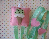 Ice Cream Hair Clip And Bow Holder