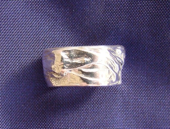 Columbine Silver Ring in eco-friendly artisan fine silver USA size 8