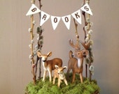 Reserve: Deer and Fawn Cake Topper deer and bunting only
