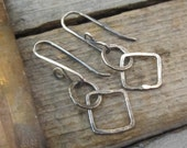 Opposites Attract Oxidized Sterling Silver Earrings