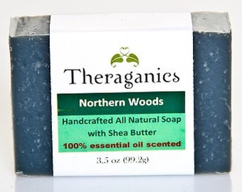 Northern Woods Cold Process Soap with Essential Oils