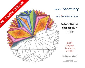 Sanctuary DIGITAL Mandala Coloring Book - PDF VERSION