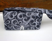 Coupon Organizer Holder - Attaches to your shopping cart - Swirls in Gray  Pick your Size