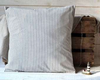 BEST SELLER GRAY Striped pillow cover decorative  pillow Eco friendly Gift Under 50 stripe home