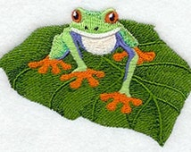 Baby Tree Frog  Embroidered Terry Kitchen Towel Bathroom Hand Towel