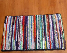 Colorful Recycled Locker Hook Rug