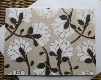 4 Bar Note Cards- Floral Blooms  (Set of 10)