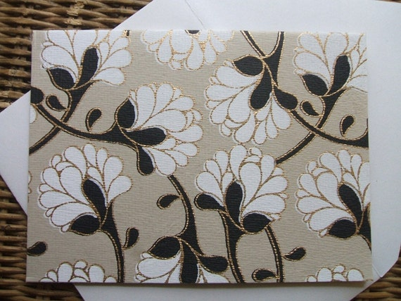4 Bar Note Cards- Floral Blooms  (Set of 10)