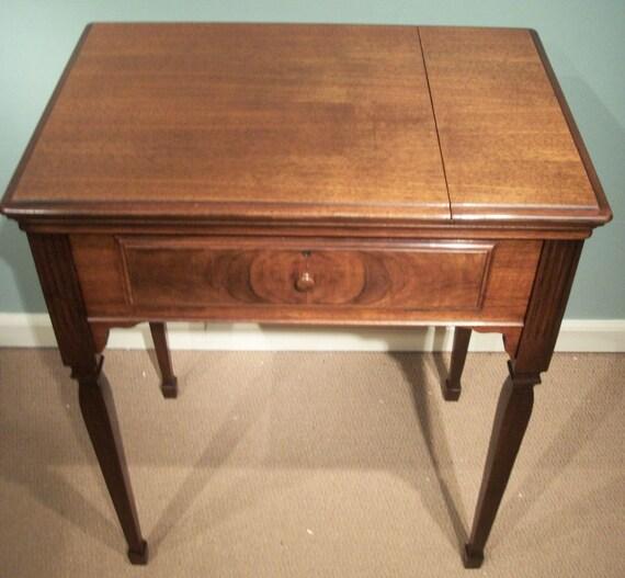 Singer No 40 walnut sewing machine cabinet or IPAD/laptop