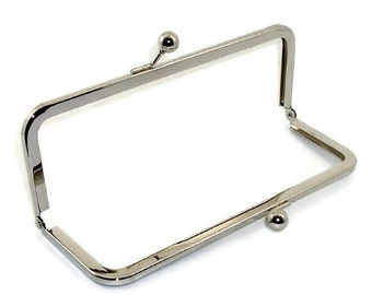 10 X 3.5 Inch Nickel Purse Frame  FREE U.S. SHIPPING