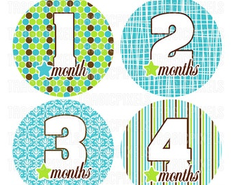 Baby Boy & Girl 12 Month Stickers, Iron on Transfers, Mom to be Gifts ...