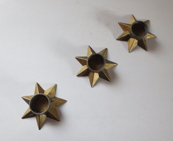 Star Candle Holders Vintage Made In Denmark