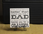 The only thing better dad/grandpa VINYL LETTERING ONLY