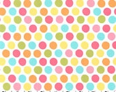 Michael Miller Fabric Diddly Dot Polka Dots Yellow, Choose your cut
