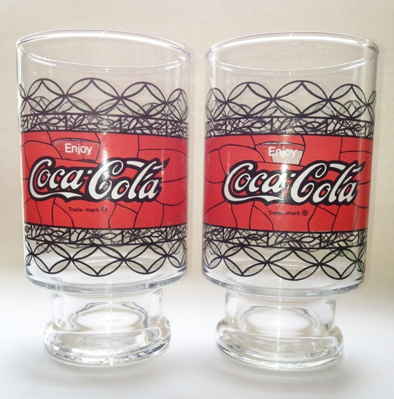 Vintage Coca Cola Extra Large Coke Glasses