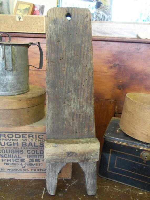 Handmade Primitive Wooden Hot Bath Sign Farmhouse Country: SALE Primitive Antique Handmade Wood Boot Jack From