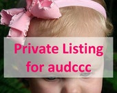 Private Listing for audccc -  NEW Lovely Ruffle Fabric Boutique Bow Soft Stretchy Headbands