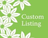Custom Listing for Rebecca - Navy Leaves wedding invitation
