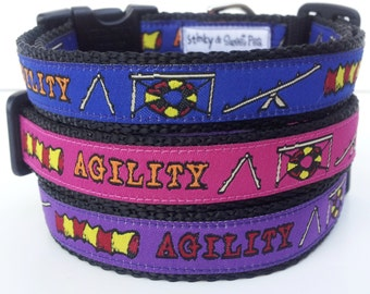 Agility Dog Collar /  Handmade / Pet Accessories / Adjustable