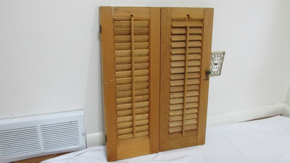 Reserved for Johnny T  Special listing For Johnnt T Only Shutters Wood Shutters Louvered Shutters Natural Stain