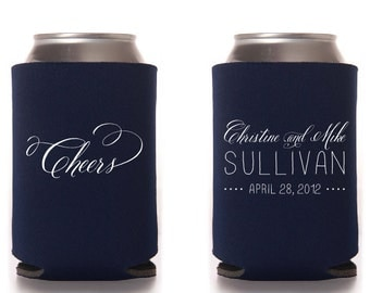 CHEERS Custom Wedding Collapsible Can Coolers