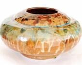 Round Ceramic Pot African Theme
