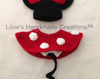 Minnie Mouse Diaper Cover Set