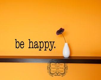 be happy-vinyl decal