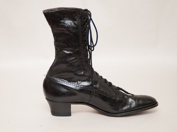 Brilliant Black Leather Lace Up Boots For Women Brown Leather Lace Up Boots