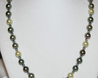 NEW - Green Pearl Necklace