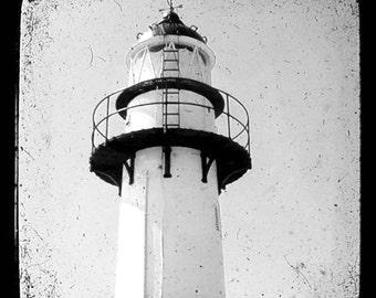 Lighthouse 1 - Light house Lighthouse Beach Ocean You light me up Beach bum Lighthouse Valentines day gift Fine Art Print 8x8
