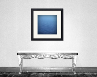 Infinite Blue - Blue in the ocean Teal of Ocean Romantic ocean decoration Beach bum Crazy about ocean ocean blue seascape Fine Art Print 8x8