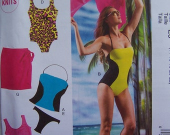 See Shop Announcement for 60%off Code - REDUCED - Swimsuit/Cover Up - McCall's M6759 Pattern - UNCUT