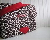 Large Embroidered Diaper Bag - Custom Messenger Diaper Bag - Made to Order