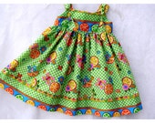 Girls Knot Dress, Sun Dress, Spring or Summer, Size 3 or 3T, Summer Vacation