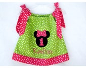 Minnie Mouse Birthday Pillowcase Dress Personalized