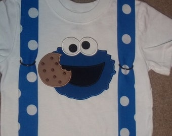 Monster That Loves Cookies Suspenders T shirt