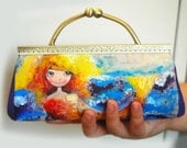 Hand painted mermaid clutch (ONE OF A KIND)