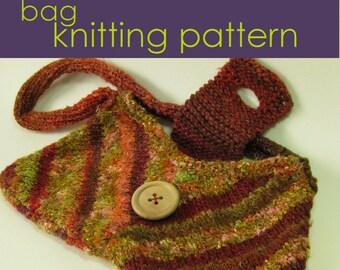 Flared Handbag Knitting Pattern, Knitted Bag, Knitting Pattern PDF