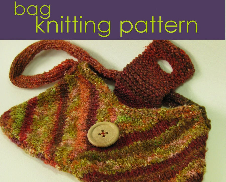 Flared Handbag Knitting Pattern Knitted Bag Knitting Pattern