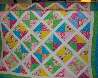 Patchwork Quilt, Twin Size Quilt NEW SALE PRICE