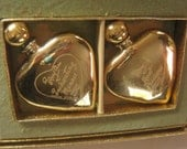 Vintage Perfume Evyan Golden Hearts Set