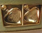 Vintage Perfume Evyan Golden Hearts Set