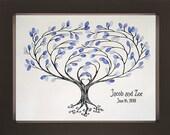 Heartsong Wedding  Fingerprint Tree (Landscape) for up to 125 Guests