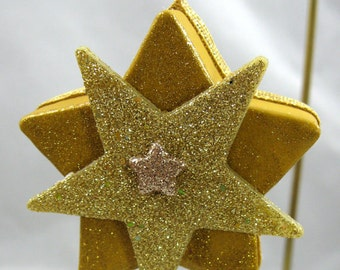 Star Box with Stars Christmas Ornament 204