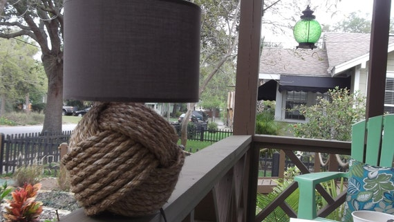 Nautical Decor - One knotty lamp - without a shade