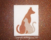 Cat and Dog 4, INSTANT DOWNLOAD, Animal Embroidery Design for Machine Embroidery 4x4