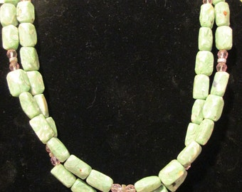 Necklace - Double Green N0021